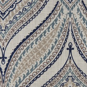 Picture of Monica Wedgewood upholstery fabric.