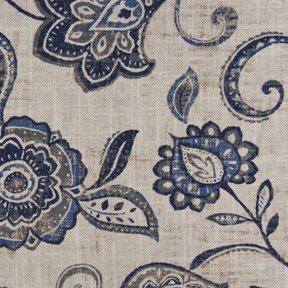 Picture of Lily Wedgewood upholstery fabric.