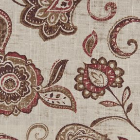 Picture of Lily Spice upholstery fabric.