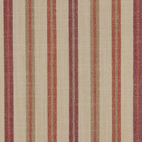 Picture of Casual Stripe Barn Red upholstery fabric.