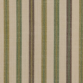 Picture of Casual Stripe Deep Moss upholstery fabric.