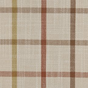 Picture of Casual Plaid Pumpkin upholstery fabric.