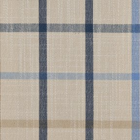 Picture of Casual Plaid Mallard Blue upholstery fabric.