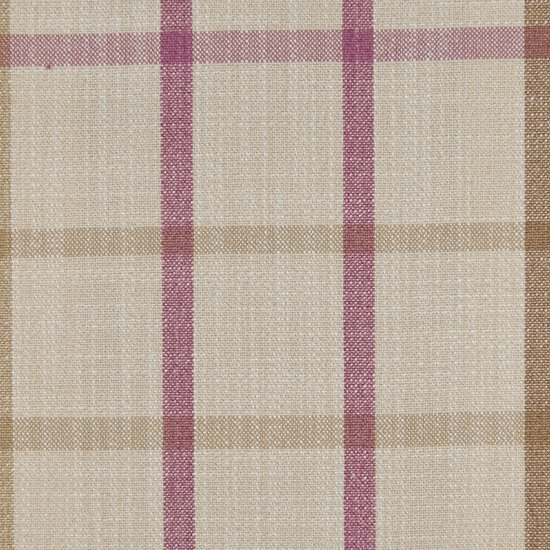 Picture of Casual Plaid Dusty Pink upholstery fabric.