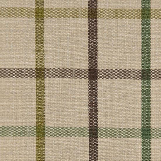 Picture of Casual Plaid Deep Moss upholstery fabric.