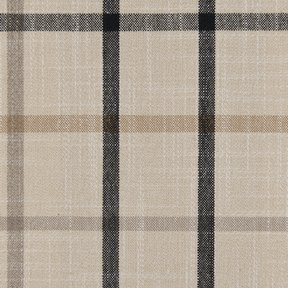 Picture of Casual Plaid Black Stone upholstery fabric.