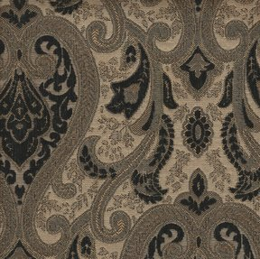 Picture of Monte Cristo Black upholstery fabric.