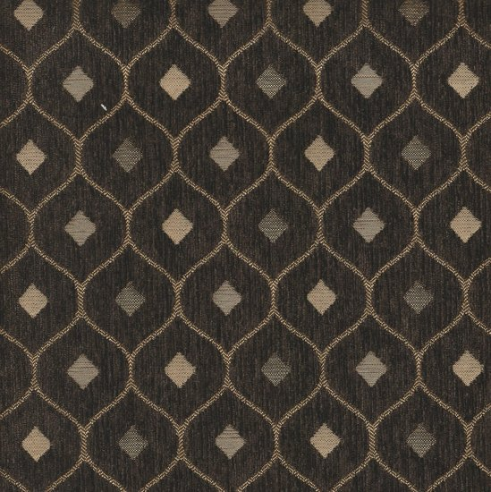 Picture of Mercedes Dark Brown upholstery fabric.