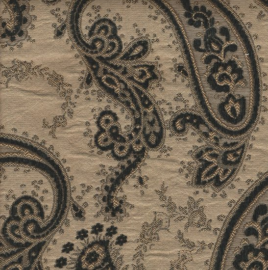 Picture of Gisele Black upholstery fabric.