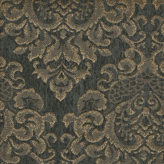 Picture of Cleopatra Charcoal upholstery fabric.
