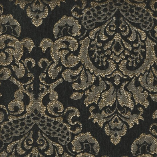 Picture of Cleopatra Black upholstery fabric.