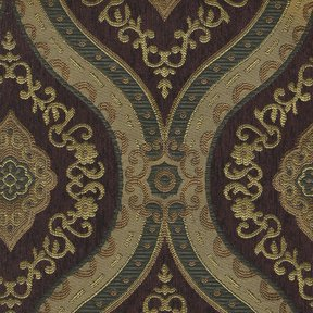 Picture of Treasure Wine upholstery fabric.