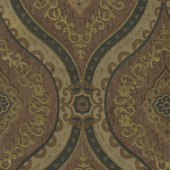 Picture of Treasure Pecan upholstery fabric.
