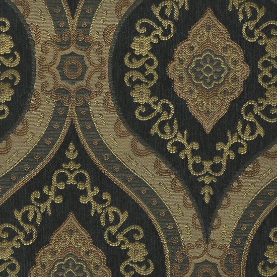 Picture of Treasure Black upholstery fabric.