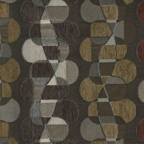 Picture of Helix Dark Brown upholstery fabric.