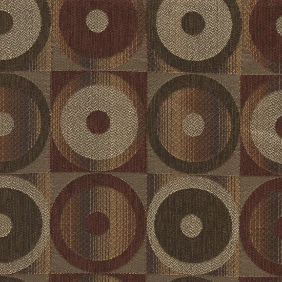Picture of Fiesta Chocolate upholstery fabric.