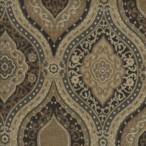 Picture of Montague Chocolate upholstery fabric.
