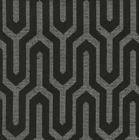 Picture of Moda Black upholstery fabric.