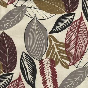 Picture of Foliage Mahogany upholstery fabric.