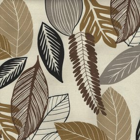 Picture of Foliage Driftwood upholstery fabric.