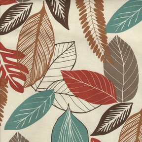 Picture of Foliage Coral upholstery fabric.