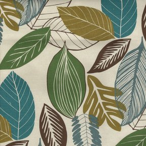 Picture of Foliage Bluegrass upholstery fabric.