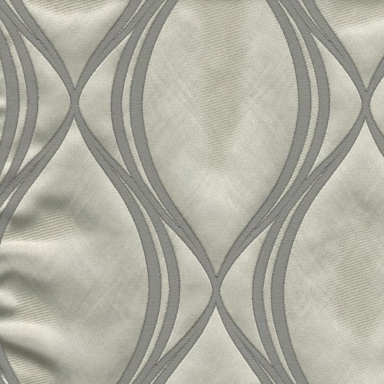 Picture of Majestic Wave Platinum upholstery fabric.
