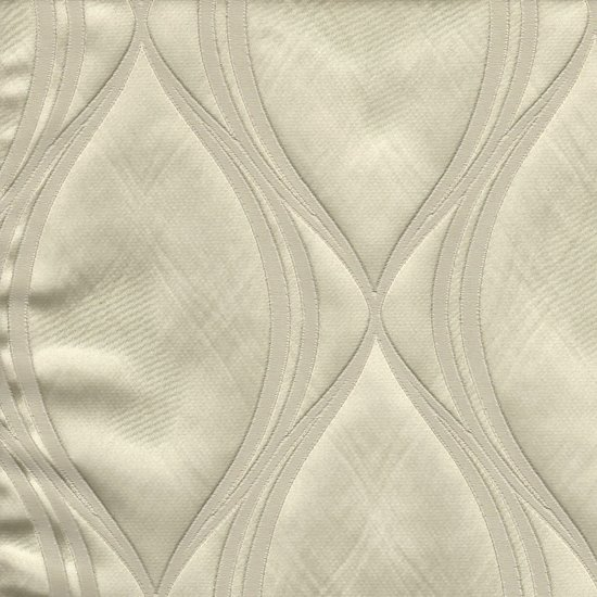 Picture of Majestic Wave Vanilla upholstery fabric.