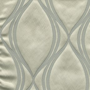Picture of Majestic Wave Silver upholstery fabric.