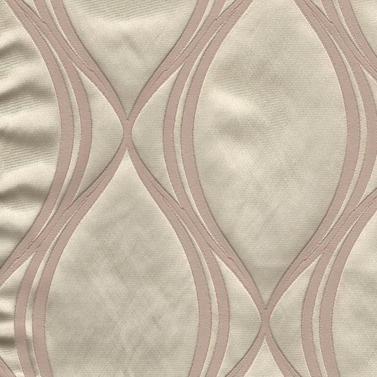 Picture of Majestic Wave Blush upholstery fabric.