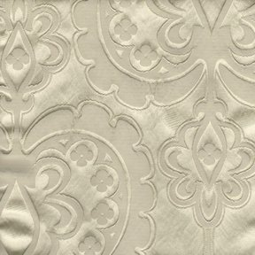 Picture of Majestic Heart Vanilla upholstery fabric.