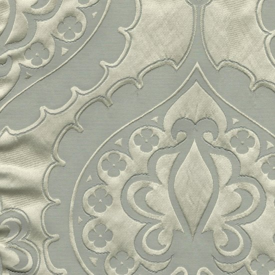 Picture of Majestic Heart Silver upholstery fabric.