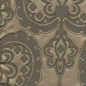 Picture of Majestic Heart Mocha upholstery fabric.