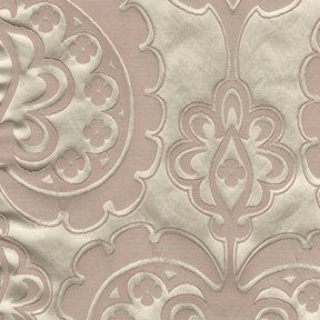 Picture of Majestic Heart Blush upholstery fabric.