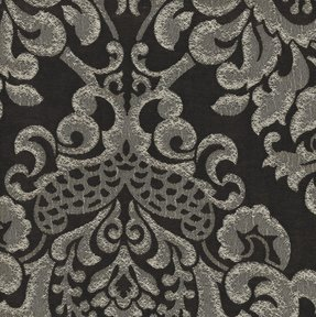 Picture of Elegance Chocolate upholstery fabric.