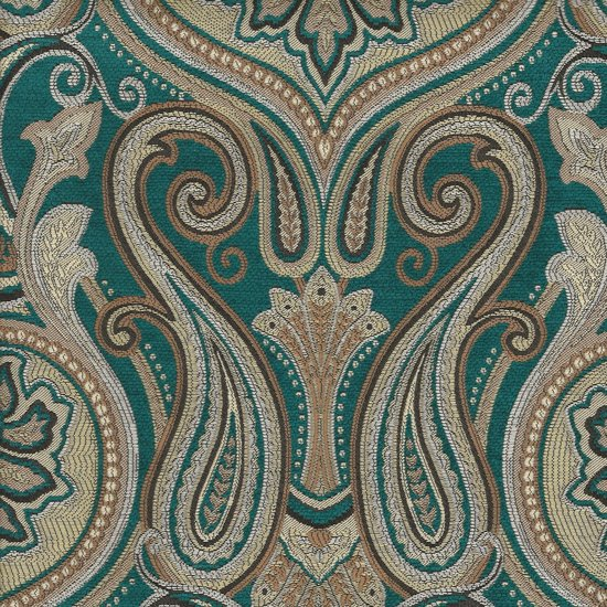 Picture of Jaclyn Turquoise upholstery fabric.