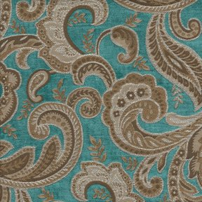 Picture of Boulange Turquoise upholstery fabric.