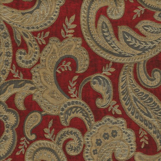 Picture of Boulange Ruby upholstery fabric.