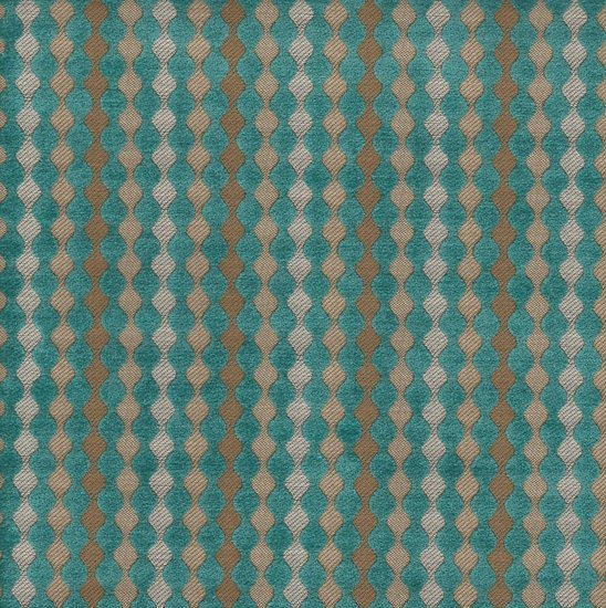 Picture of Biscotti Turquoise upholstery fabric.
