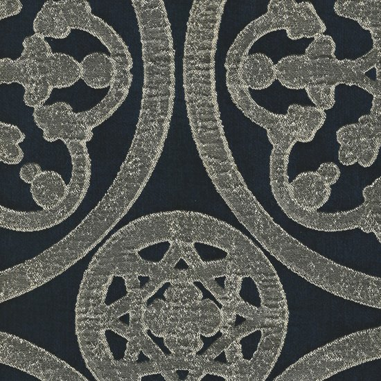 Picture of Mulberry Navy upholstery fabric.