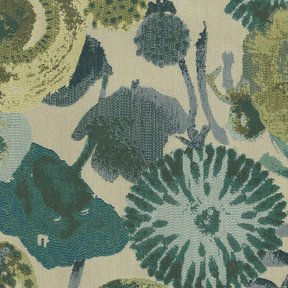 Picture of Lotus Seafoam upholstery fabric.