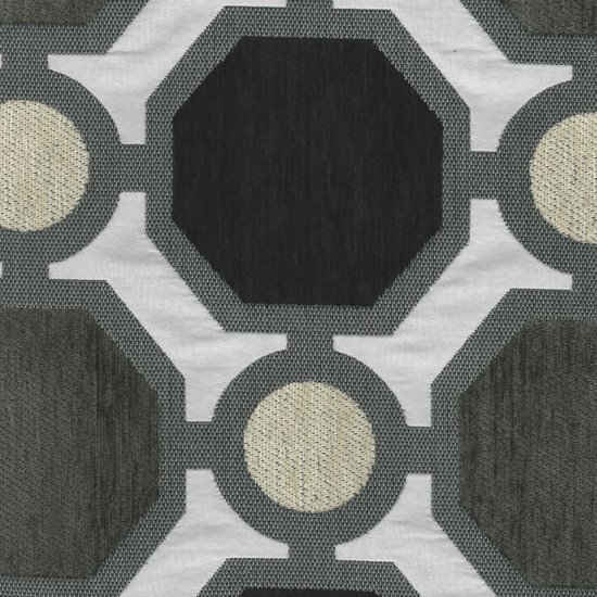 Picture of Helios Charcoal upholstery fabric.
