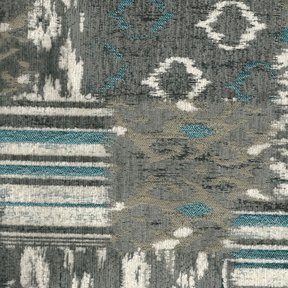 Picture of Bohemian Silver upholstery fabric.