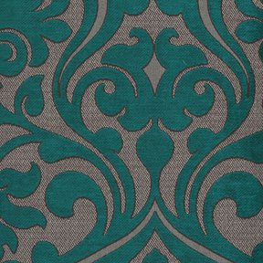 Picture of Chelsea Turquoise upholstery fabric.