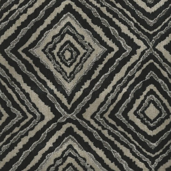 Picture of Marquee Black upholstery fabric.