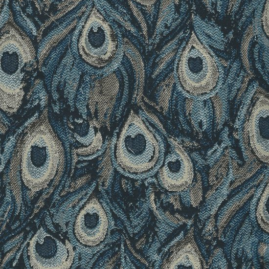 Picture of Peacock Royal upholstery fabric.