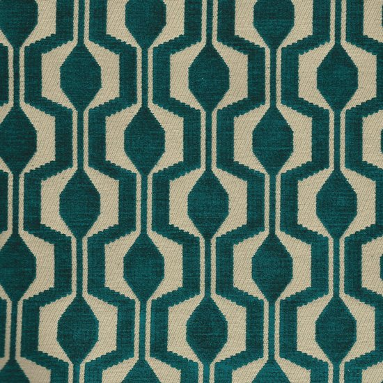 Picture of Polaris Turquoise upholstery fabric.