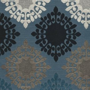 Picture of Retro Blues upholstery fabric.