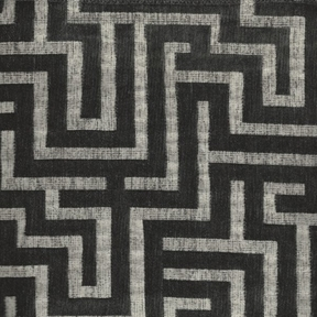 Picture of Tetris Charcoal upholstery fabric.