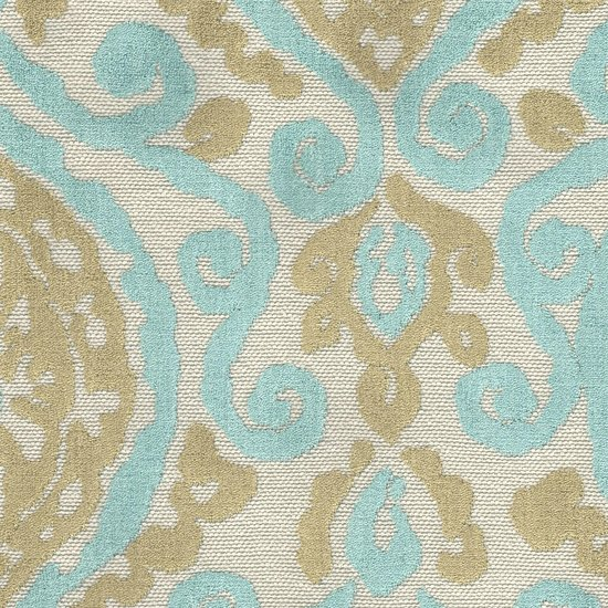 Picture of Lanikai Aqua upholstery fabric.